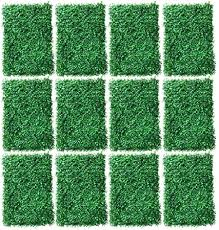 Amazon Com 12pcs 16x24inch Artificial Boxwood Panels Topiary Hedge Plant Vertical Fence Plant Grass Hedge Privacy Fence Screen Faux Grass Wall Panel Decorative For Outdoor Garden Patio Uv Protection Encryption Garden