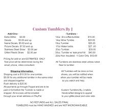 Custom Tumblers By J Home Facebook