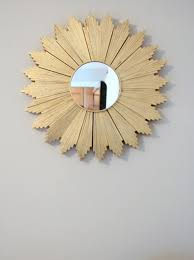 sunburst mirror with wood shims love