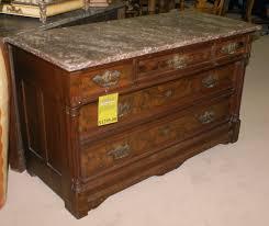marble top eastlake walnut dresser for