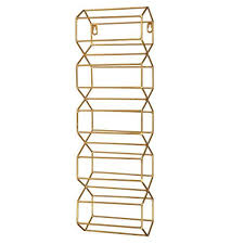 gold metal 5 bottle wine rack