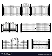 Gate And Fence Royalty Free Vector Image Vectorstock