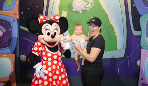 at disney world with a baby