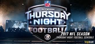 2017 NFL Thursday Night Football Schedule