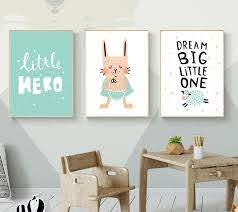 Kids Hero Boys Gifts Wall Art Canvas Decorative Pictures Poster Print Boo Bootik