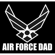 Amazon Com Air Force Dad Sticker 5 Decal White Us Air Force Logo Sticker Proud Parent Usaf Sticker Patriot U S A F Hap Arnold Veteran Usaf 2nd Amendment Sticker Vinyl Window Laptop Merica Automotive