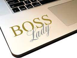 Amazon Com Boss Lady 4 Decal Vinyl Motivational Sticker For Laptop Journal Wall Or Car Metallic Gold Metallic Silver Home Improvement