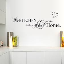 Kitchen Wall Decal The Kitchen Is Heart Of The Home Letter Pattern Wall Stickers Pvc Removable Home Decor Diy Wall Art Murals Wall Stickers Bedroom Wall Stickers Buy From Margueriter 16 25 Dhgate Com