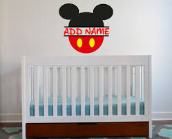 Mickey Mouse Personalized Wall Decal Etsy