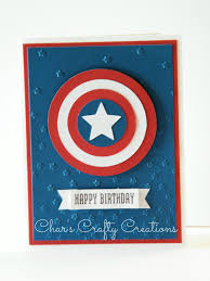 Captain America Card By Char S Crafty Creations Using Ctmh