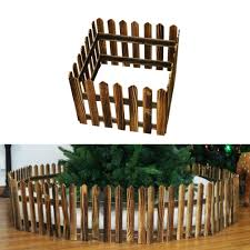 Doitool 1pcs 1 2m Wood Christmas Tree Fence Decorative Christmas White Picket Garden Fence For Christmas Xmas Tree Wedding Party Decoration Brown Garden Outdoor Cjp Org In
