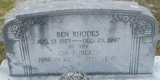 Ida Roberts Rhodes (1876-1955) - Find A Grave Memorial
