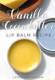 vanilla cocoa er lip balm recipe