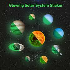 Tuscom Glow In The Dark Planets Bright Solar System Wall Stickers Glowing Ceiling Decals For Bedroom Living Room Shining Space Decoration For Kids For Girls And Boys Walmart Com Walmart Com
