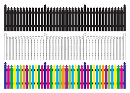 Picket Fence Stock Vector Illustration Of Cosmopolitan 10594889