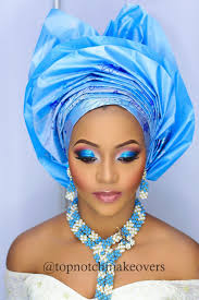 bn bridal beauty gele with a twist