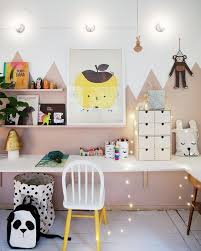 Fun Study Corners To Spark The Imagination Graphic Wall Art Twinkly Lights Pops Of Color And Fun Pill Kid Room Decor Baby Room Decor Kids Room Inspiration