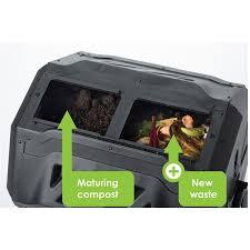 maze 160l roto twin compost tumbler