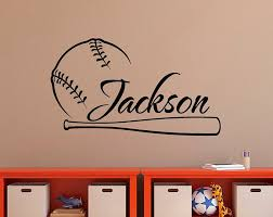 Personalized Baseball Wall Decal Nursery Name Decal Baseball Etsy Baseball Wall Decal Sports Wall Decals Nursery Wall Decals Boy
