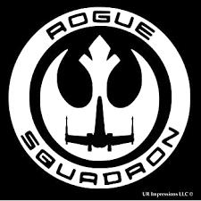 Amazon Com Ur Impressions Rogue One Squadron Decal Vinyl Sticker Graphics For Cars Trucks Suv Vans Walls Windows Laptop White 5 5 Inch Uri207 Automotive