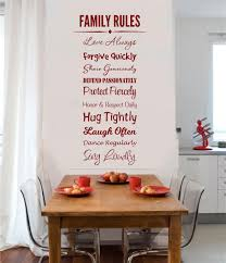 Family Rules Vinyl Decal Wall Stickers Letters Words Home Decor