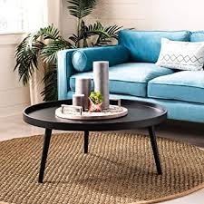 fritz black tray top round coffee table