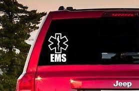 Ems Window Sticker Ems Laptop Computer Decal Emergency Medical Etsy In 2020 Computer Decal Window Stickers Laptop Computers