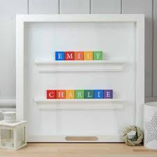 baby gift for twin boys abc frame
