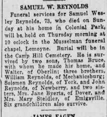 Samuel Wesley Reynolds Obituary - Newspapers.com