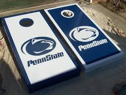 Hand Painted Penn State Cornhole Boards Cornhole Christmas Crafts To Make Cornhole Boards Designs
