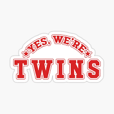 Yes Were Twins Stickers Redbubble