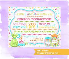 Caramelo Tematico Bebe Ducha Invitaciones Digitales Pequena Etsy
