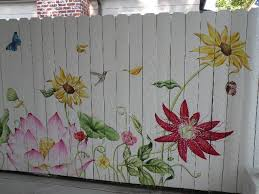 Pin By Shelley Sparks On My Landscape Designs Fence Art Garden Mural Flower Mural