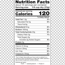 breakfast cereal in nutrition facts
