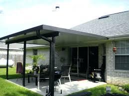 metal decking patio aluminum awning for