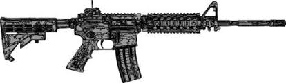 Buy Ar 15 Scope Rifle Vinyl Decal Sticker 9 X 3 6 White In Cheap Price On Alibaba Com