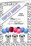 baby shower cards for triplets from