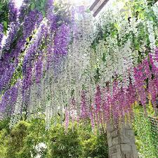 silk wisteria flowers vine home garden