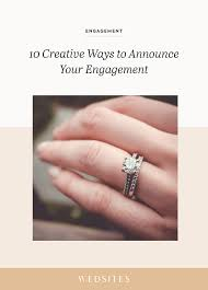 creative ways to announce your engagement ♥