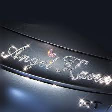 Personalized Bling Letter Decal Diy Sticker Customized Sparkling Car Carsoda