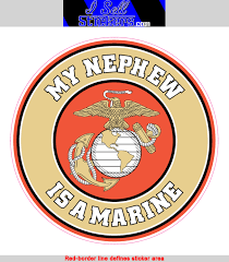 Original Items Ma 3158 My Nephew Is A Us Marine Usmc Ega Bumper Sticker Window Decal Collectibles Militaria