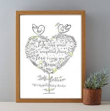 personalised housewarming gift print