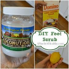 diy coconut oil foot scrub a pinch of