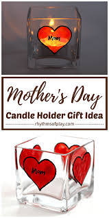 personalized candle holder gift idea