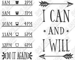 I Can And I Will Fitness Quote Custom Diy Motivational Water Bottle Vinyl Decal Cutting File Set In Svg Eps Dxf Jpeg And Png Format Svg Salon