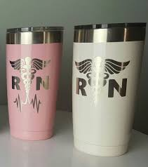 Rn Custom Tumbler Nurse Yeti Cup Powder Coated Tumbler Yeti Nurse Decals Rn Car Stickers Nurse Decal Decals For Yeti Cups Yeti Cup Designs Cup Decal