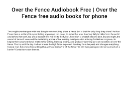 Over The Fence Audiobook Free Over The Fence Free Audio Books For P