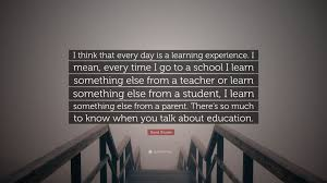 "david shuster quote ""i think that every day is a learning"
