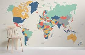 Globetrotter Kids World Map Wallpaper Mural Muralswallpaper