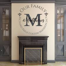 Our Family Name Wall Decal Vinyl Home Decor Family Wall Decor Customvinyldecor Com